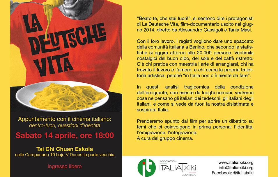 """Cineforum """"La Deutsche Vita"""" - Asociación ItaliaTxiki Elkartea - Italiani nei Paesi Baschi"""