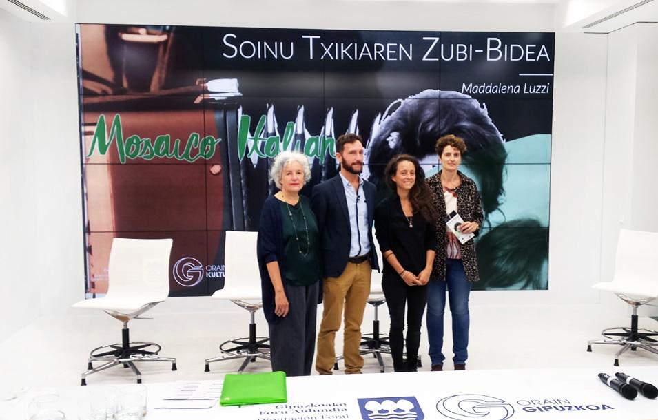Conferenza stampa presso Diputación Foral di Gipuzkoa a Donostia/San Sebastián per la presentazione di Mosaico Italiano e di Soinu Txikiaren Zubi-Bidea