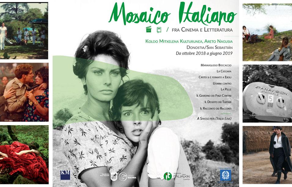 Mosaico Italiano, fra cinema e letteratura - ciclo culturale di ItaliaTxiki - 2018-19