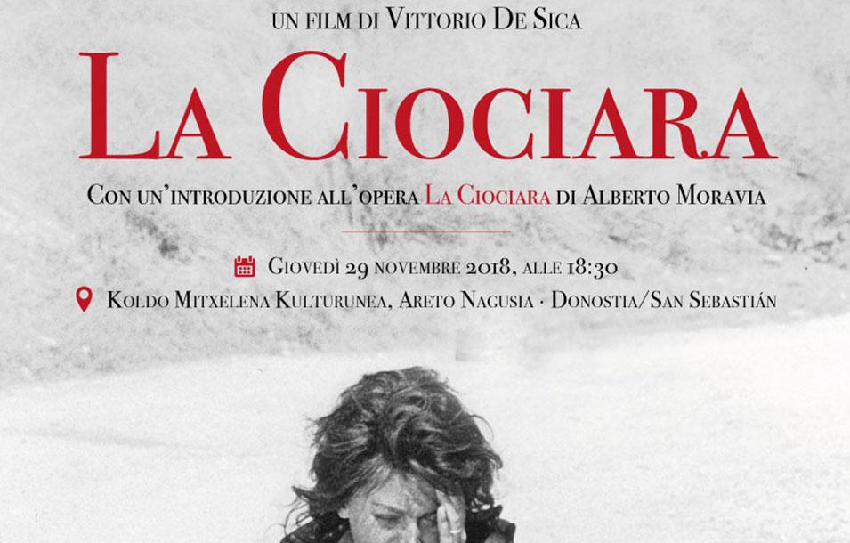 La Ciociara - Mosaico Italiano, fra cinema e letteratura - ciclo culturale di ItaliaTxiki - 2018-19