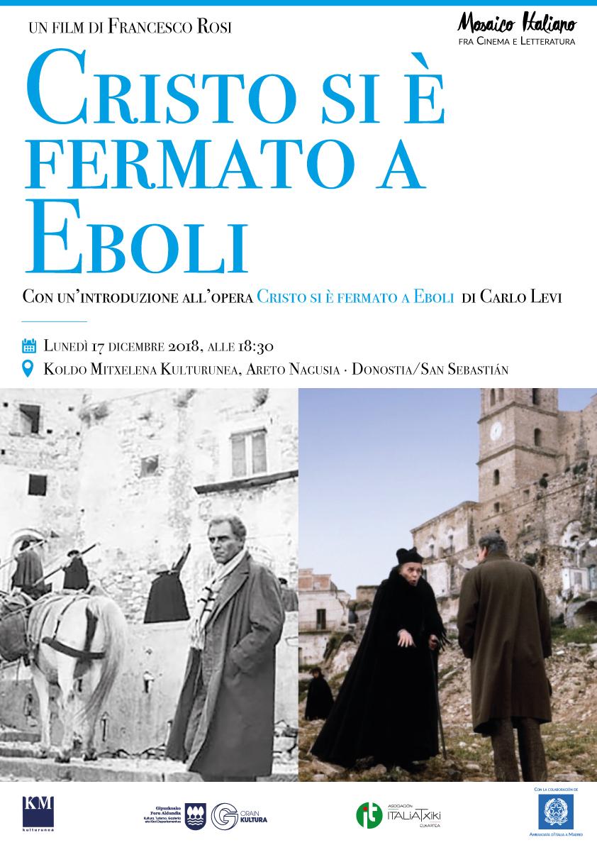 Cristo si è fermato a Eboli - Mosaico Italiano, fra cinema e letteratura - ciclo culturale di ItaliaTxiki - 2018-19