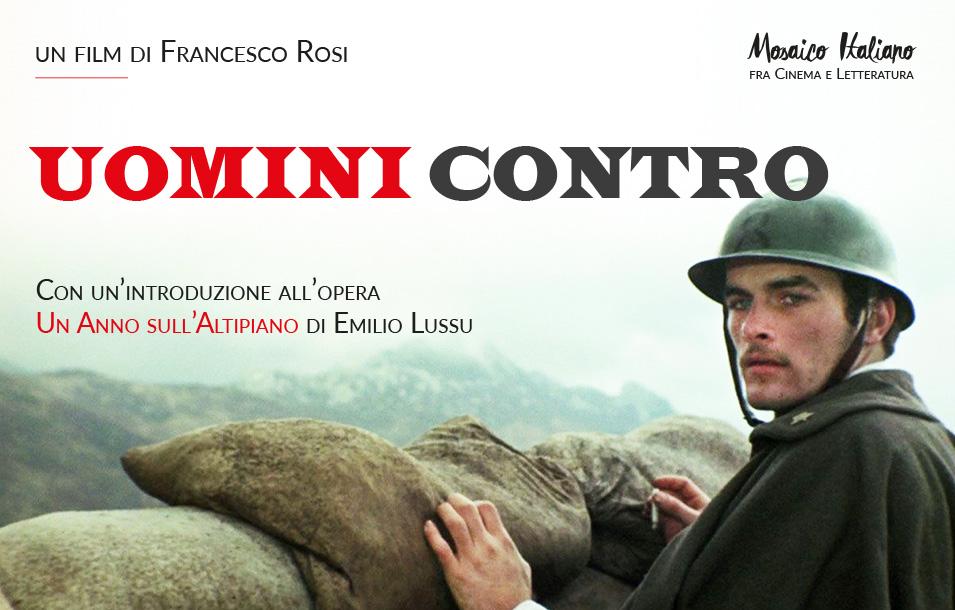 Uomini Contro - Mosaico Italiano, fra cinema e letteratura - ciclo culturale di ItaliaTxiki - 2018-19