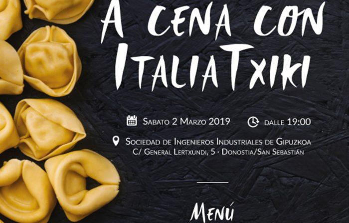 A cena con ItaliaTxiki - sabato 2 marzo 2019 presso la Sociedad de Ingenieros Industriales de Gipuzkoa a Donostia/San Sebastián
