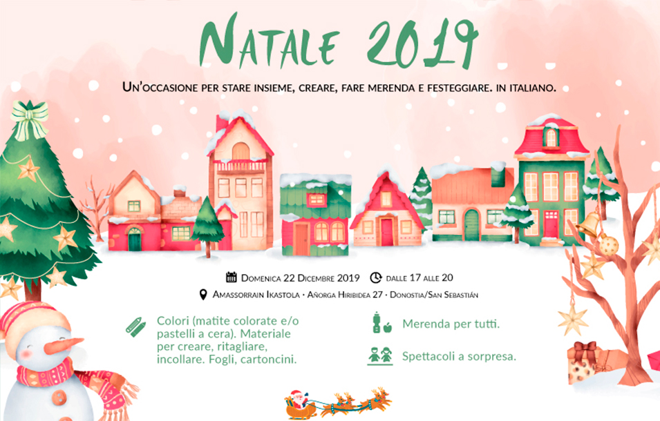 Natale 2019 con ItaliaTxiki: una festa per i più piccoli, con attività per creare decorazioni, fare merenda insieme e con spettacoli a sorpresa
