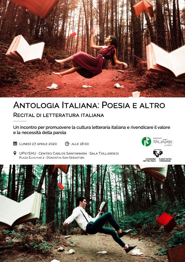 Antologia italiana: poesia e altro · Recital di letteratura italiana - UPV/EHU · ItaliaTxiki · Donostia-San Sebastián - 27 aprile 2020